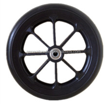 8 inch solid rubber wheel with bearing for wheelchair