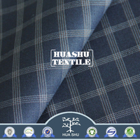 Wholesale Hot Selling TR Grid Fabric for Men Suit