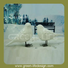 Elegant white ceramic bird figurine wholesale