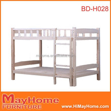 nature color heavy duty cheap wooden bunk bed