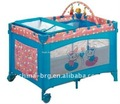 new design baby travel cots with toy bar blue playpen baby crib baby cots