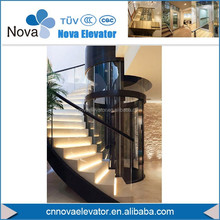 320KGS, 4 Persons Round Panoramic Home Elevator Lift