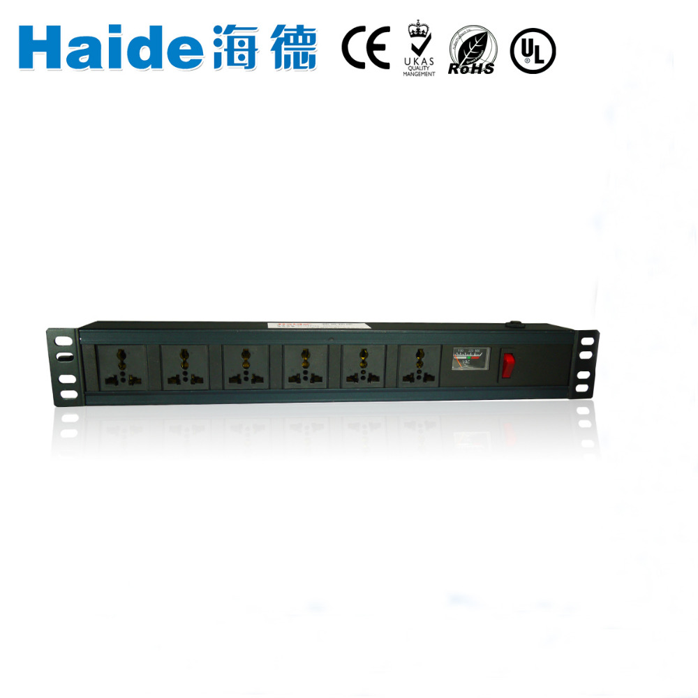 A 220v 10ka PDU 6 outlet China surge lightning arrester design