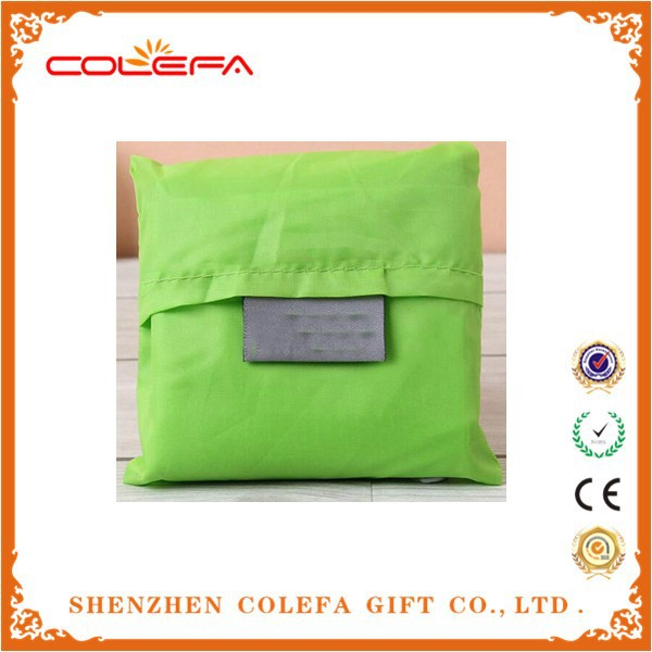 fashion recycled shopping bag polyester fiber folding shopping bag foldable shopping bag
