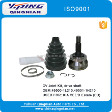 CV Joint Kit, Drive Shaft Used For KIA CEE'D Estate (ED) OEM:49500-1L210,49501-1H210