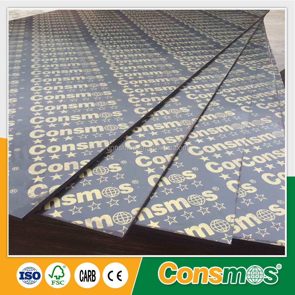 Consmos Flower Wagon board film faced plywood/concrete mould plywood panel,Fanera