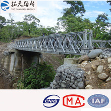 Single storey double lanes Permanent Assembly Concrete Deck Steel Truss Bridge