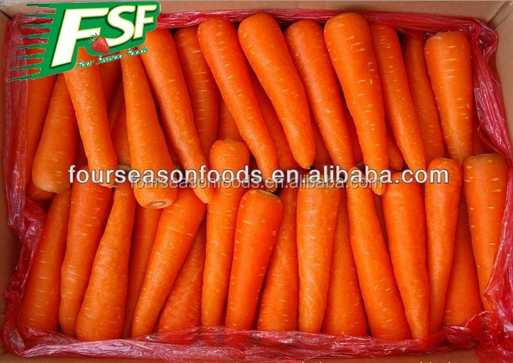 wholesale chinese frozen food,frozen bulk vegetables, High Quality IQF/Frozen carrot whole 2016 new crop