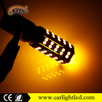 Good Quality 68smd 12v amber turn lamp led auto car brake bulb 1156 led bulb ba15s base 1210 smd led backup/reversing rear light