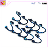18G ball & cone 316L steel Twisted Spiral Barbell Nipple Nose Lip Ear bar Ring surgical Piercing SBR014