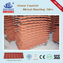 Type roof finishes colorful stone coated metal roof tile low price