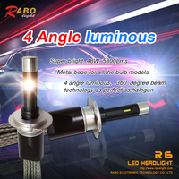 Low consumption, low heat, long life automobile parts r6 h8 led lights for truck h8 car led headlight conversion kits