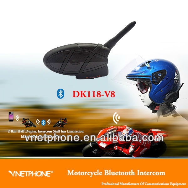 Super motorcycle multi talk bluetooth 2km helmet intercom