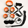 2016 Newest Restraint kit 8pcs SM Sex suit Mask/Rope/Ball Gag/Cuffs/Collar/Whip /Hotgie For Male/Female Bondage
