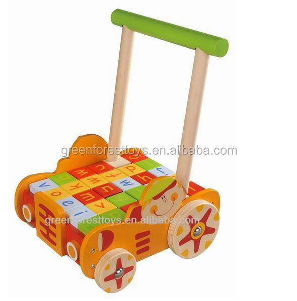 wooden toy First Step Alphabet Baby Walkers simple baby walker