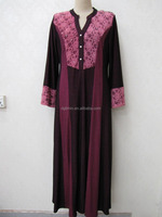 Placket Front Rhinestones Diamond Abaya Long Suit Muslim Cap Women Chemo Caps Muslim Hijab Gamis Dress