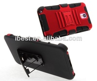 Hot sell combo holster case for samsung,3 in 1 mobile phone clip combo case belt clip case for samsung note3