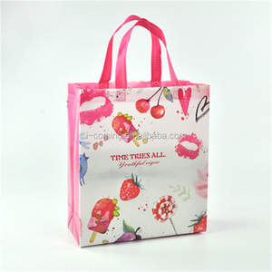 Eco friendly glossy laminated pp non woven promotion eco bag