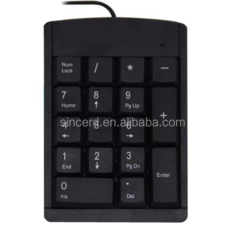 SCD-06-06 USB 19 Keys Mini Number Keypad Numeric Adapter Keyboard