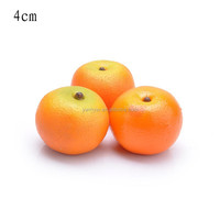 40mm mini Polystyrene artificial orange fake home decoration fruit and children DIY