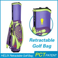 HELIX New Style High Quality detachable golf bag stand with rain cover