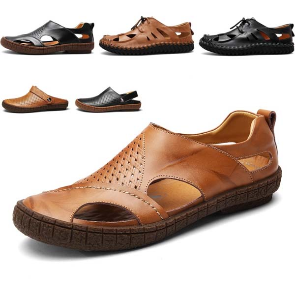 new design summer sandals men leather sandals