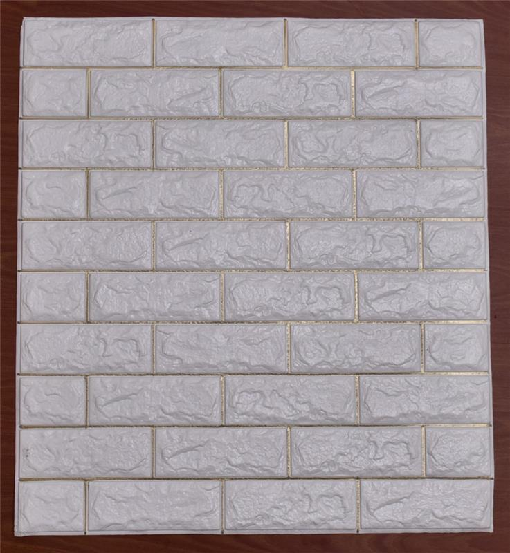 New Products Hot Selling Interior Brick Wall Design 3d Design Foam Wall Paper