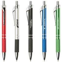 Barcelona aluminium pen. Writes with High-Quality Glide-Write ink. One colour print.