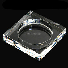 Transparent square crystal ashtray high-grade glass ashtray boutique creative gifts guest room hall place adorn