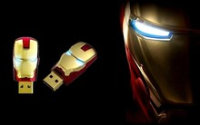 New Style Iron Man Waterproof Creative USB Pen Drive for promotional gift