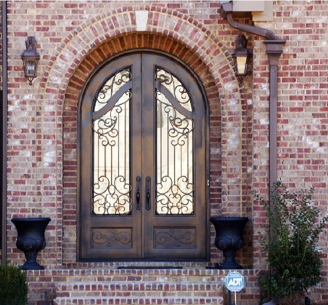 Steel Entry Doors Arch Top Iron Main Door Buy Arched Top Interior Doors Wrought Iron Door Wood