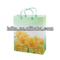 China printed folding plastic drawstring bags