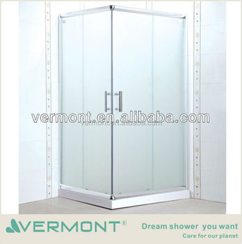 2017 popular simple cheap glass shower enclosure