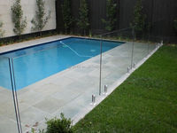 Tempered glass fence 316 stainless steel standoff