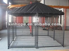 Powder coating dog run kennel with A-frame top