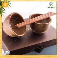 wood bamboo bowl circle wood cup combo chopsticks gift for friends relative and lover homemade wood gifts