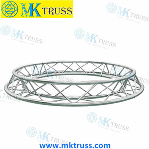 Performing Equipment Alu Customized Color Stage Lighting Flat Horizontal Circle Truss for Concerts, Exhibits, Dancing, Parties