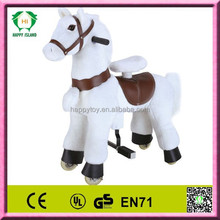 HI ride on horse toy pony toy white horse to china cute plush ride on toys