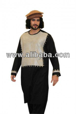 kuchi dress male with silver colour embroidery on chest new style in black white and brown colour s