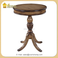 2016 Antique Solid Wood Sofa Table, Side Table Lamp Stand and Round End Table