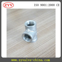 "stainless steel 316 pipe fitting,1/2"" NPT female threaded tee"