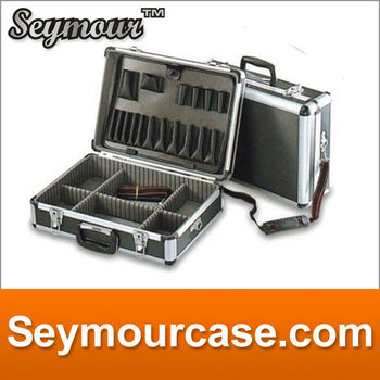 ABS panel with aluminum frame,Black aluminum professional tool case