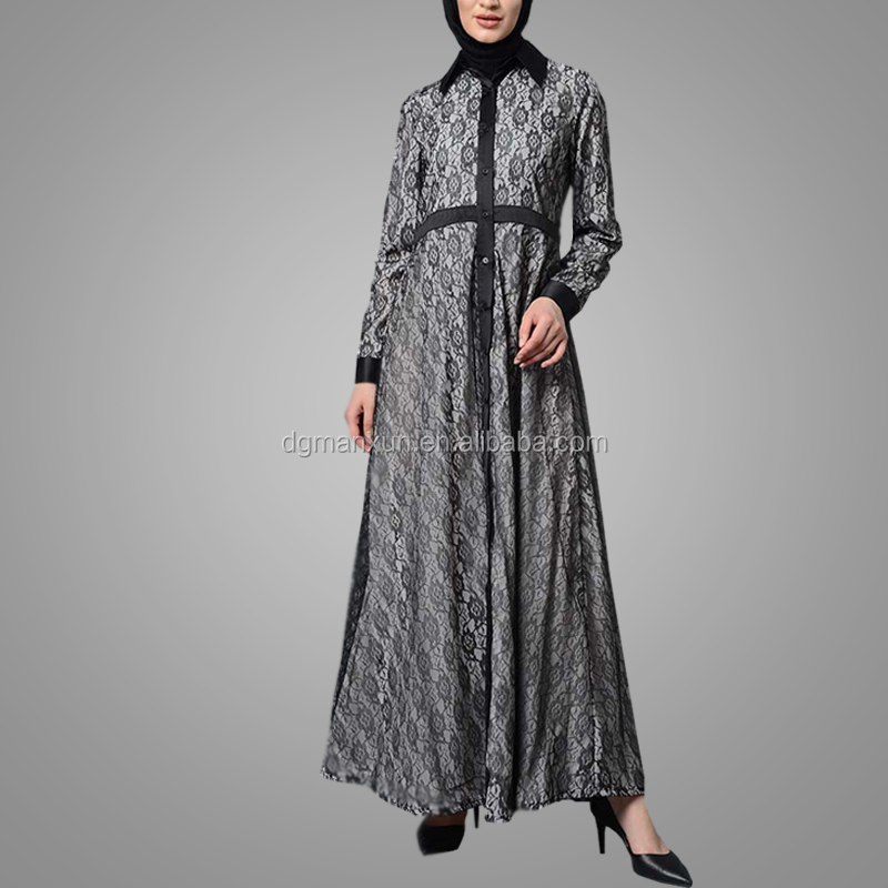 Modest Long Open Cardigan Elegant Fashion Abaya Jilbaya Islamic Clothing Casual Soft Muslim Abaya With Belt