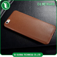 New Colorful TPU PU back protective leather cover for iphone 6 Soft tpu leather mobile cover