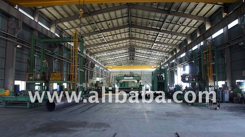 Large-diameter steel pipe manufacturing plant