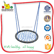 Playground net swing with rope