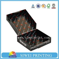 Custom printed corrugated carton box for shipping, box corrugated ,with logo silver hot stamping