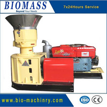Machine for pellets with diesel engine