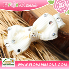 Light Color of Grosgrain Ribbon Bow Hair Clip Hair Accessories for Baby Girls