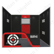 long term use high quality aluminium profile customized graphics sticker used <strong>trade</strong> show stand booth for any exhibition